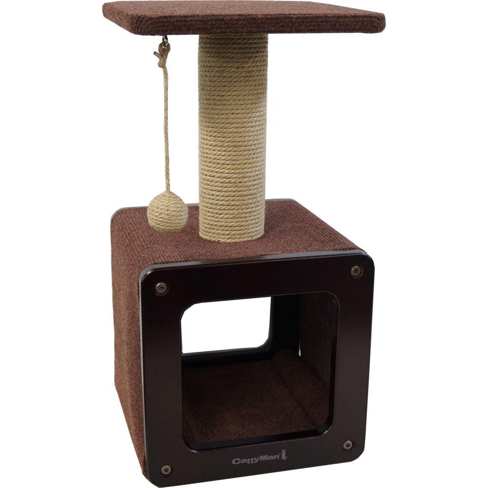 超シンプルなキャットタワー。爪とぎ、おもちゃ付き
