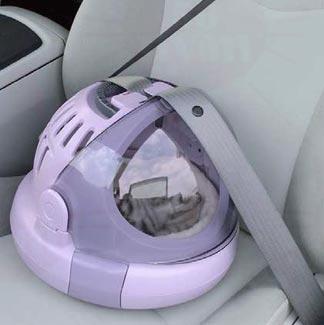 シートベルト対応になっているので、自動車で移動する際にも安心