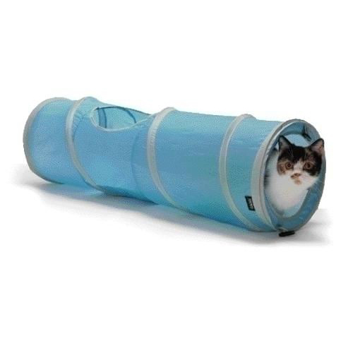 猫ちゃんの大好きなシャカシャカ素材のキャットトンネル