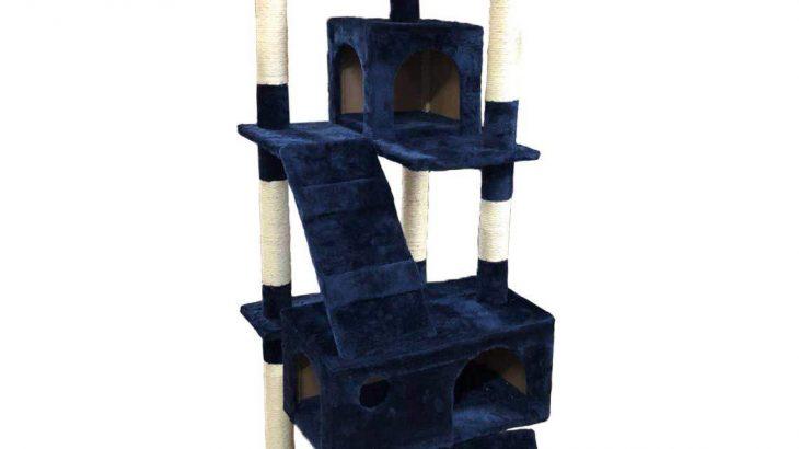 キャットタワー 大型タイプ SR-CAT1830-NV ネイビー 据え置きタイプ 高さ170cm