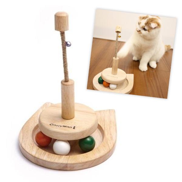 ネコのシルエットがかわいい木製おもちゃ